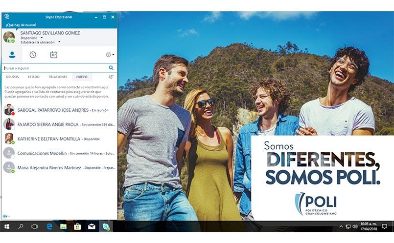 1. Abrimos el Skype empresarial.