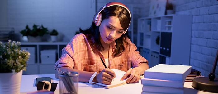 Ambientación con música al estudiar