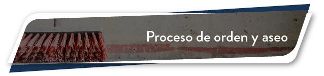 Proceso de orden y aseo