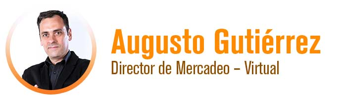 Augusto Gutierrez - Director de Mercadeo