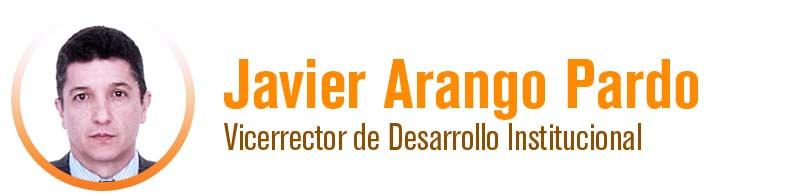 Javier Alonso Arango Pardo - Vicerrector de Desarrollo Institucional