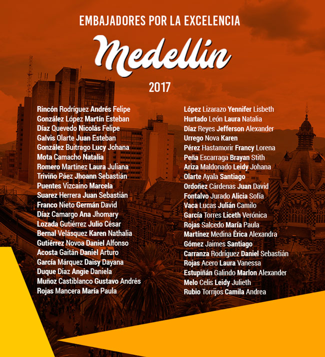 Embajadores por la Excelencia Medellín 2017