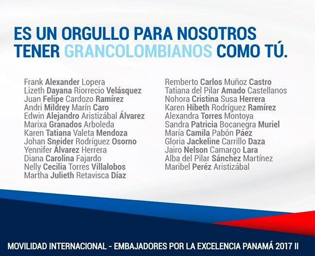 Embajadores por la Excelencia Panamá 2017-II