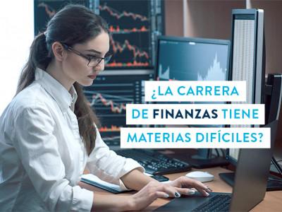 ¿La carrera de Finanzas tiene materias difíciles?