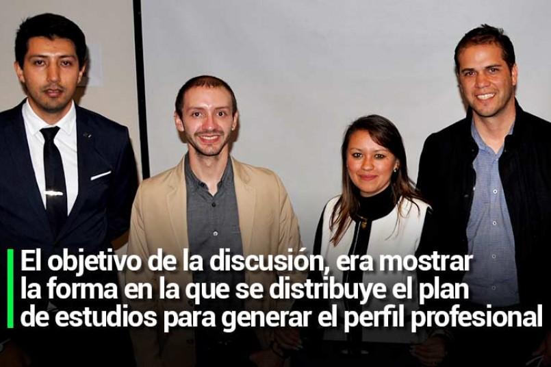 El objetivo de la discusión, era mostrar la forma en la que se distribuye el plan de estudios para generar el perfil profesional
