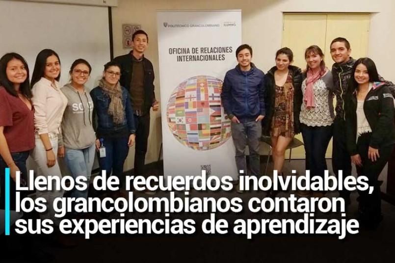 Llenos de recuerdos inolvidables, los grancolombianoscontaron sus experiencias de aprendizaje