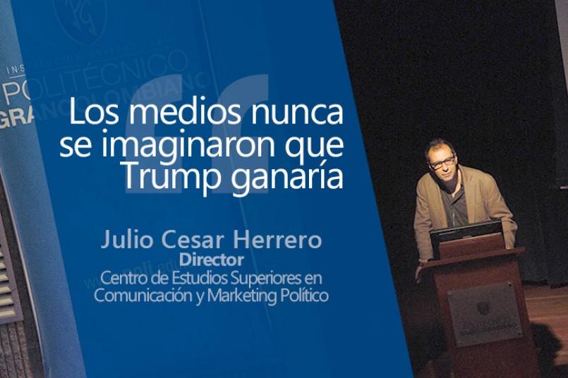 Julio Cesar Herrero, además trabaja como analista político en diversos medios de comunicación.