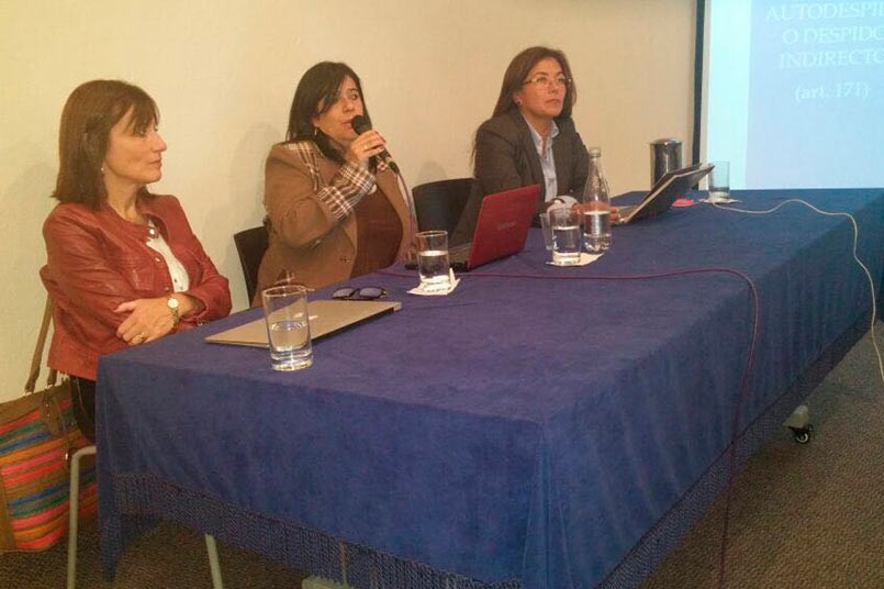 Gabriela Lanata, Abogada Integrante de la Corte de Apelaciones de Concepción, Chile; María Edna Castro,docente experta en acoso sexual; Mónica Fernandez, Directora Programa de Derecho.