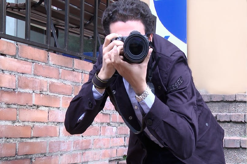 Nicolás Borrero, egresado de Medios Audiovisuales de la Institución