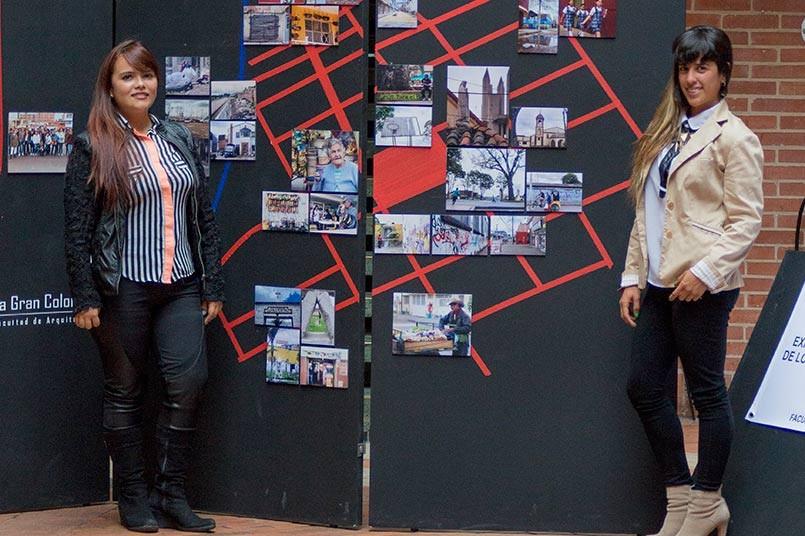 Exposición de Cartografía a cargo de las estudiantes líderes del semillero.