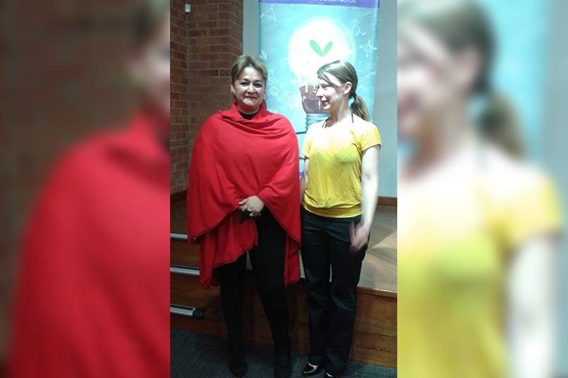Líderes Gruplac Habitat socio cultural, Anna Diesch, y Gruplac CEC Mireya Baron
