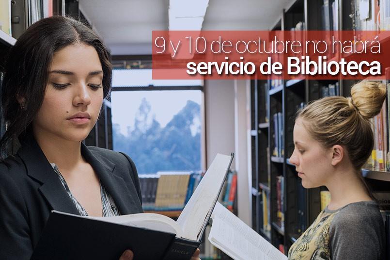 Viernes y sábado no habrá servicio de Biblioteca