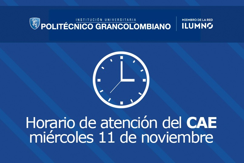 Horario de atención del CAE para mañana 11 de noviembre