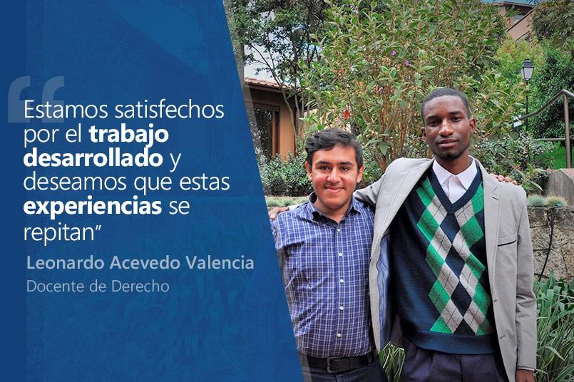 Los estudiantes Juan Felipe Sánchez y Michael Julián Córdoba representaron a nuestra institución en el XXVII congreso colombiano de derecho procesal.