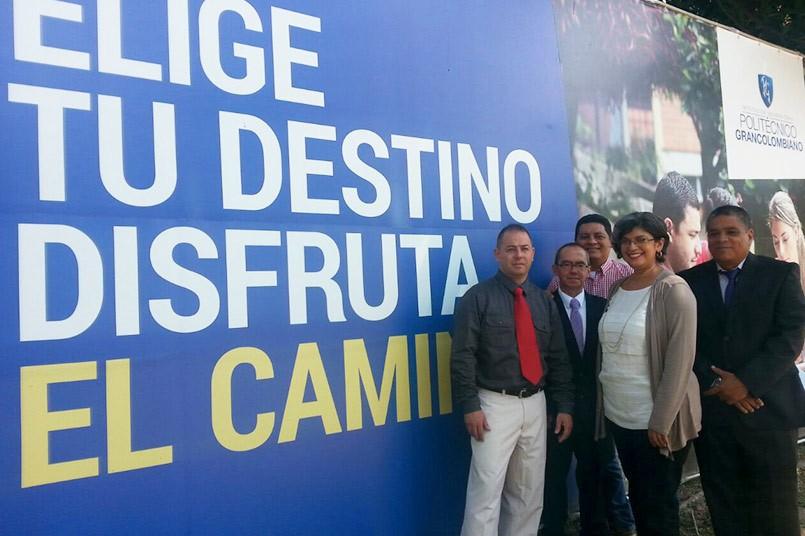 Álvaro Usuga, Wilfrey Plata, Luis Jiménez, Sofía Jiménez y Fabio Maya.