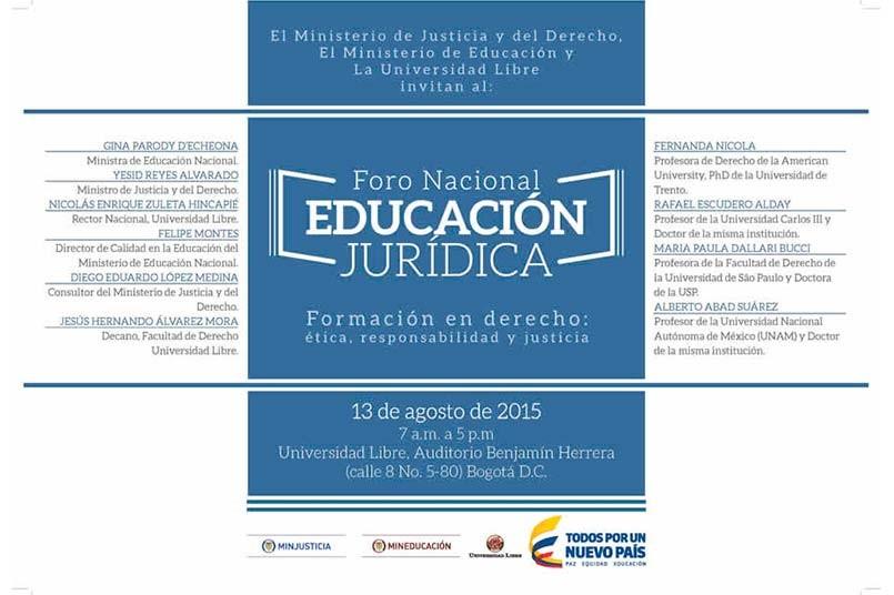 Foro Nacional Educación Jurídica