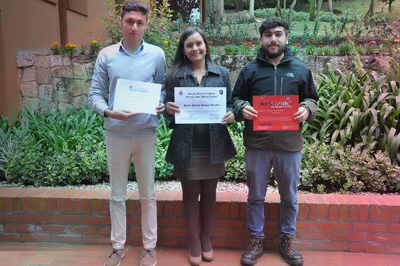Felicitaciones a estos tres grancolombianos.