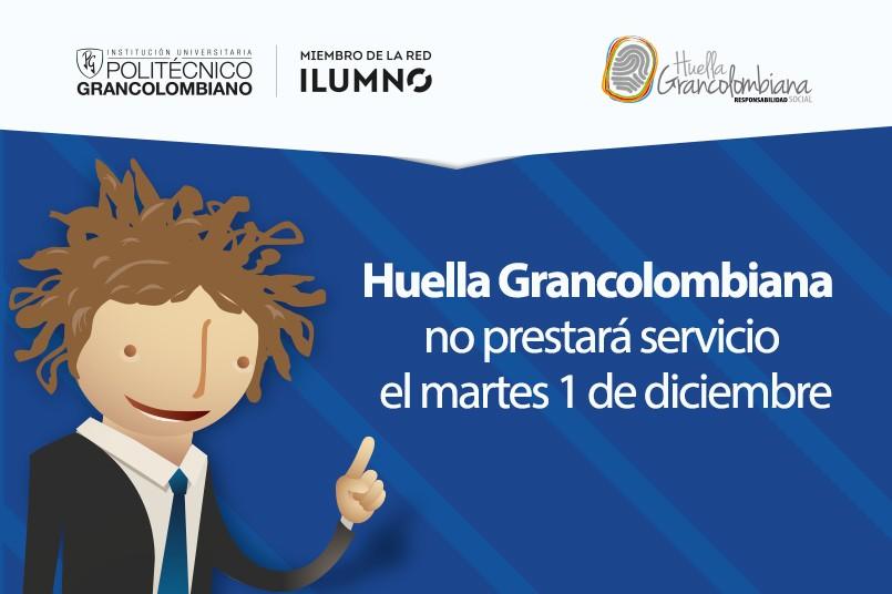 Horario Huella Grancolombiana para el martes 1 de diciembre
