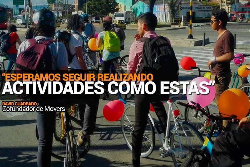 Más de 30 estudiantes se unieron para recorrer las calles de Bogota