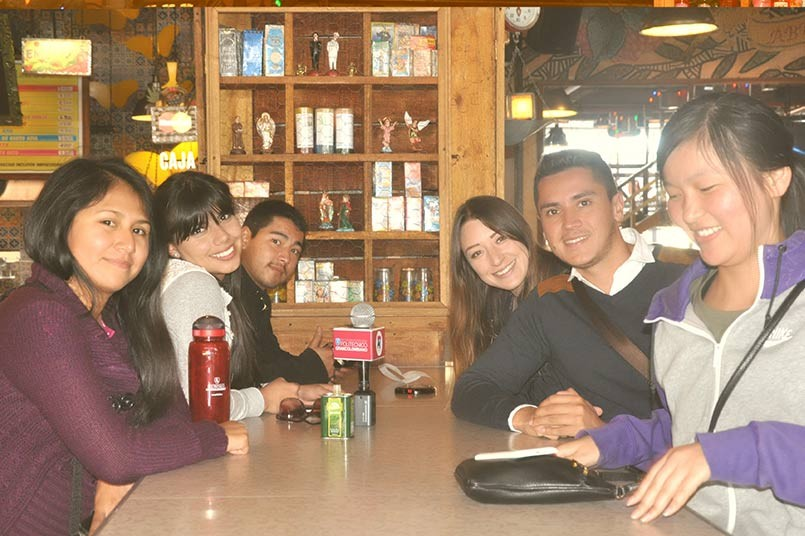 El equipo de Bienestar acompañó al grupo de estudiantes