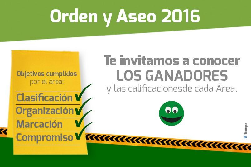 Resultados Orden y Aseo 2016 II