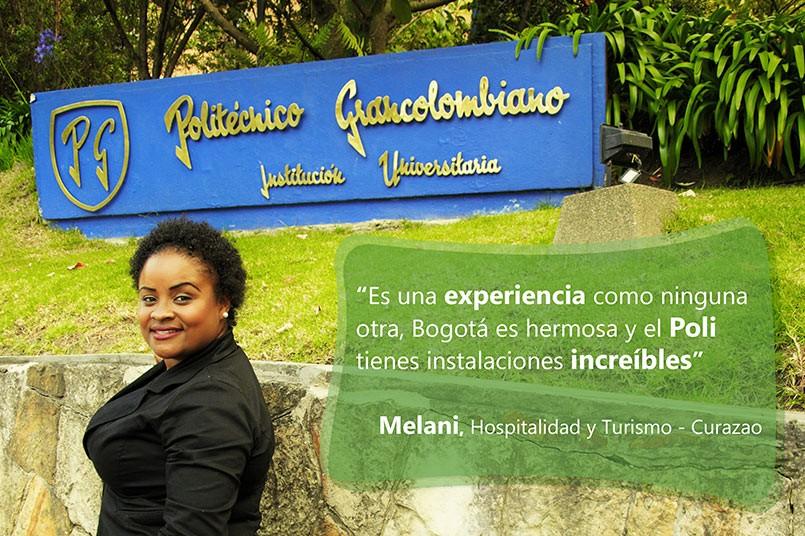 Melani - Estudiante de Hospitalidad y Turismo Curazao