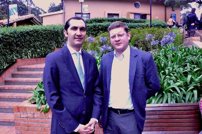 De izquierda a derecha - David Barguil y Santiago Castro