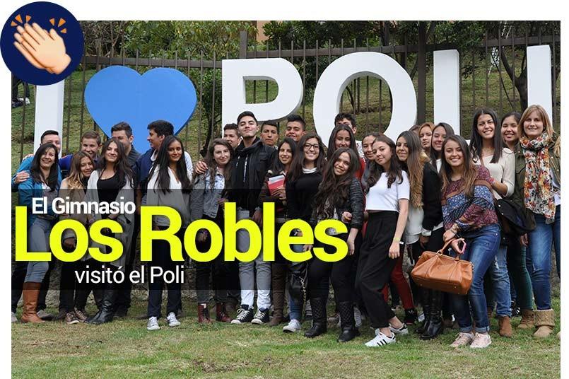Mas de 40 estudiantes del Gimnasio Los Robles visitaron al Politécnico