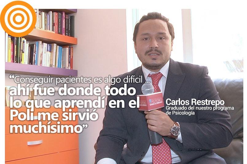 Carlos Restrepo ha logrado crecer profesionalmente con su propio consultorio
