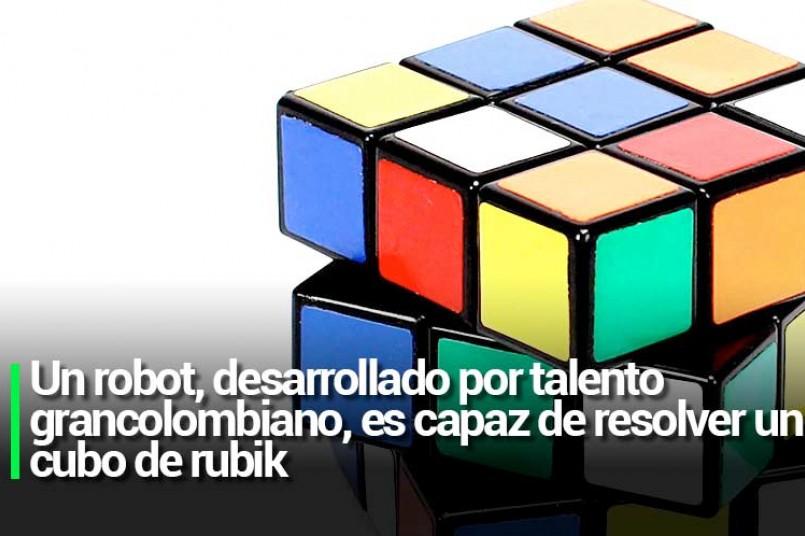 Un robot, desarrollado por talento grancolombiano, es capaz de resolver un cubo de rubik
