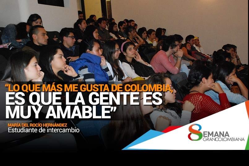 Conferencia apreciación de Colombia en el extranjero.