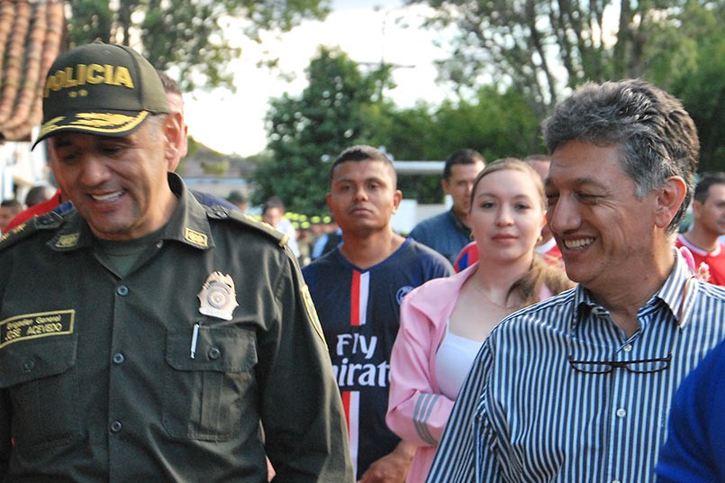 El Brigadier General José Gerardo Acevedo, Comandante de la Policía Metropolitana del Valle de Aburrá