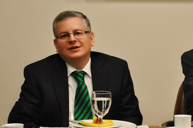 El representante del sector productivo ante el Consejo Nacional de Educación de Superior, José Fernando Zarta, visitó el Poli