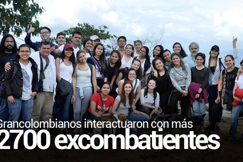 Estudiantes del Poli en la zona veredal de Icononzo