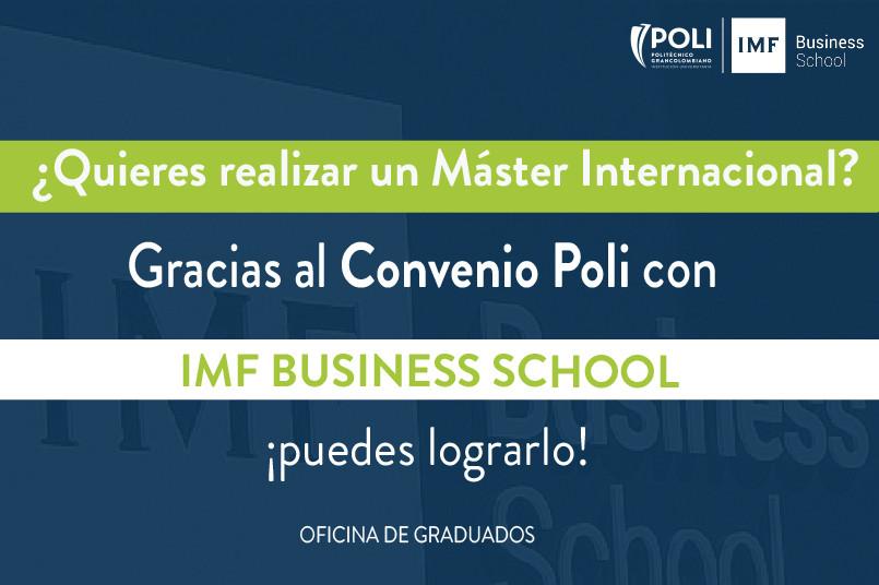 ¡Graduado! ¿Quieres realizar un máster internacional? Este convenio es para ti.