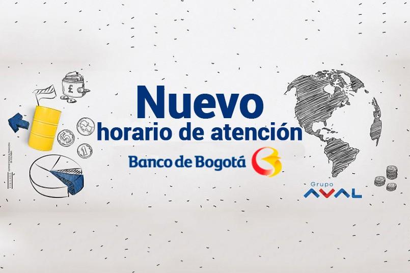 Nuevo horario Banco de Bogotá