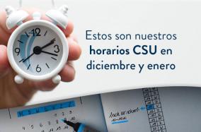 ¡Horarios de atención de los centros de servicio universitario!