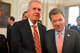 El presidente Santos y nuestro rector dieron apertura al Premio de Alta Gerencia