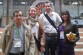 El grupo de semillero en el encuentro de REDCOLSI